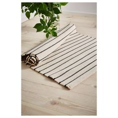 The rug has the same pattern on both sides, so you can turn it over and it will withstand more wear and last even longer. Easy to vacuum thanks to its flat surface. Large Bathroom Rugs, Bathroom Runner Rug, Bathroom Rug Sets, Bathrooms, Kitchen Runner Rugs, Kitchen Rug, Bathroom Ideas, Kitchen Design, Ikea Rug