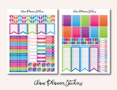 This is a Montly Colorful set Printable Planner Stickers. Decorate and organize your month in your Erin Condren Planner. They are designed to