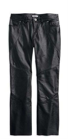#harley-davidson-women-s-leather-riding-pants-highland-contoured-boot-cut-leather-pant-98065-13vw  Women's Vests #2dayslook #fashion #Vests www.2dayslook.com