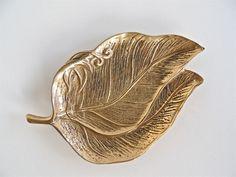Small Brass Leaf Dish