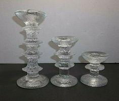 Vintage iitala FESTIVO Candle Holders Timo Sarpaneva Candlesticks SIGNED #iitala