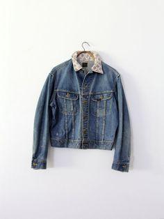 1940s Lee Denim Jacket / Vintage Jean Jacket