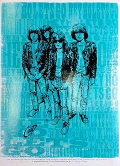 "Coop and Church of Type's awesome ""Hey Ho Let's GO"" Ramones print, on Etsy"