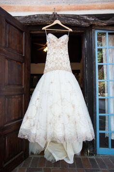 Gold detailed ballgown: http://www.stylemepretty.com/california-weddings/silverado/2015/04/25/ufc-fighter-michael-bispings-english-estate-inspired-wedding/ | Photography: David Manning - http://www.davidmanningphotographer.com/