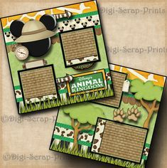 DIGISCRAP to see more of my fantastic layouts! I use only the highest quality archival safe HD paper and inks that bring a brilliant saturation of color to each scrapbook page. You will have to take a second look at these premade pages to realize they are not 3D. | eBay!