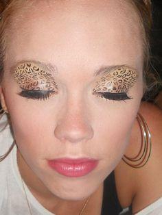 my lepoard print makeup