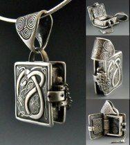 Book of Kells: Arach, metal clay artware by Wanaree Tanner