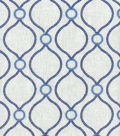 P/K Lifestyles Upholstery Fabric-Curveball Emb/Porcelain