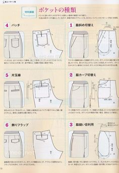 Trendy Ideas For Sewing Pants Tutorial Style Sewing Pants, Sewing Clothes, Diy Clothing, Clothing Patterns, Diy Pantalon, Pants Tutorial, Costura Diy, Japanese Sewing Patterns, Modelista
