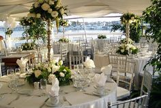 Gorgeous white wedding on a Hornblower yacht!