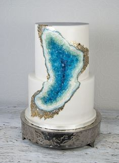 Geode Wedding Cake on Cake Central