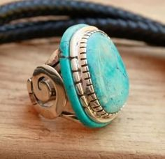 Arizona Mountain Turquoise Sterling Silver by fanny