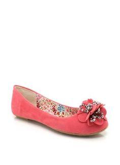 Amazon.com: Rosette Toe Suede Flats: Shoes