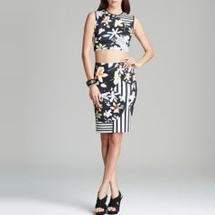 Rank & Style Top Ten Lists | Clover Canyon Floral Discs Top and Skirt #rankandstyle