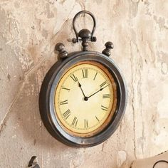 Everyday Retro Stopwatch Metal Wall Clock  #Clock #Everyday #Metal #Retro #RusticMantelClock #Stopwatch #Wall The Rustic Clock