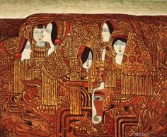 """Katrine Levin on Twitter: """"Chen Yongle (b.1944), ink on Korean rice paper, depicting the costumes of one of 25 ethnic minorities in Yunnan #art https://t.co/YwLZhGh5X3"""""""