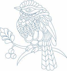 Zentangle Bird design