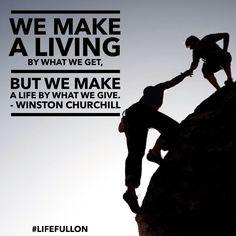 Make a life not a living ... #lifefullon