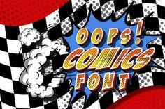 Comics font. Vol. 2 by redstudio on @creativemarket