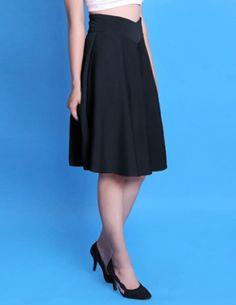Chân váy lưng V vintage-A1571