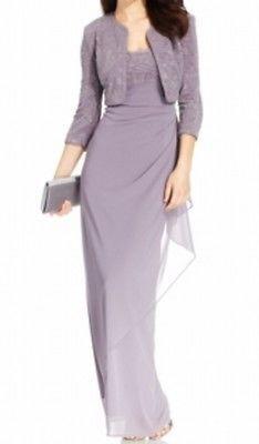 6869201b126 Alex Evenings NEW Purple Heaven Women s 16 Gown Dress Jacket Set  159-  163