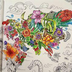 #exotischerurwald #coloriagepouradulte