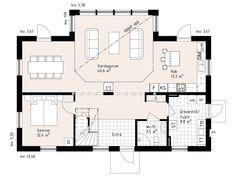 Hudson - Storslaget hus i serien Ocean Living från Myresjöhus European House, House Plans, Floor Plans, Cottage, How To Plan, Design, Farm Houses, House Architecture, Sims