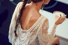 Elegant Lace Blouse~ Love the beautiful~ More women clothes follow @choiesclothes