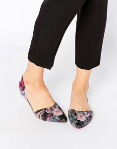 You can't go wrong with a pair of cute floral flats.