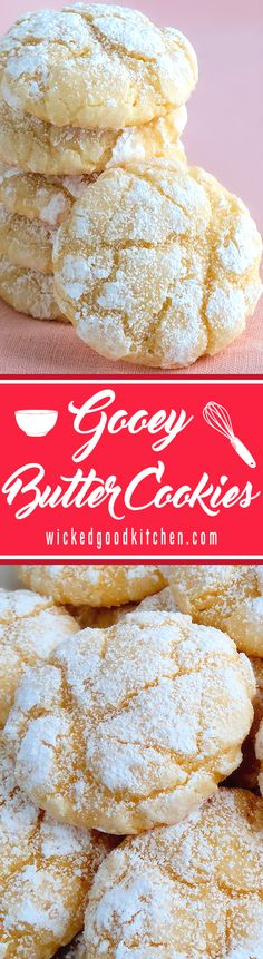 Gooey Butter Cookies - Best Ever (from scratch!) ~ Deliciousness! Melt-in-your-mouth Gooey Butter Cookies at their finest and from scratch. Buttery, light and tender-crumbed, sweetened just right and full of flavor. You just can't have one! Included is a scrumptious and irresistible gluten free variation. Everyone will love these!
