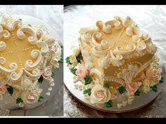 """УКРАШЕНИЕ ТОРТОВ , торт """"ДЖОЗЕЛИН""""  от SWEET BEAUTY СЛАДКАЯ КРАСОТА, CAKE DECORATION - YouTube"""