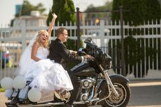 Motorcycle wedding so getting a picture like this.