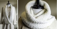 Keep yourself warm and cozy in this Snowdrift knitted infinity cowl. Cozy can also mean classy with this knitted cowl. Download the FREE pattern here …