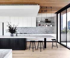 Ein anspruchsvolles Entertainer-Penthouse in Brighton - Kitchen - Haus Design Kitchen Design Open, Luxury Kitchen Design, Contemporary Kitchen Design, Best Kitchen Designs, Modern Design, Home Decor Kitchen, Kitchen Interior, Home Kitchens, Kitchen Ideas