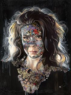Kai Fine Art is an art website, shows painting and illustration works all over the world. Collage Portrait, Portraits, Mixed Media Collage, Superman, Sandra Chevrier, Wonder Woman, Halloween Face Makeup, Painting, Fine Art