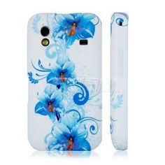 e_cell - Blue Blossoms Silicone Gel Case for Samsung Galaxy Ace S5380