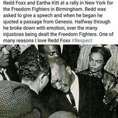 Redd Foxx and Eartha Kitt/ at a New York Civil Rights rally