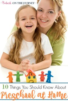 If you're just starting out on your homeschool journey, here are ten things you should know about preschool at home. | embarkonthejourney.com