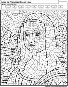 Color-by-Numbers Famous Paintings - 20 Pack,How To Produce Wood Art ? Wood art is typically the job of surrounding about and inside, provided that the surface of something is flat. Adult Color By Number, Color By Number Printable, Color By Numbers, Paint By Number, Colouring Pages, Adult Coloring Pages, Coloring Books, Alphabet Coloring, American Gothic