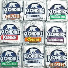 Klondike Bars - What would you do for a Klondike bar? Klondike Bar, Survival Essentials, New Flavour, Damascus Steel, Mint Chocolate, Junk Food, Healthy Snacks, Snack Recipes, Fast Foods