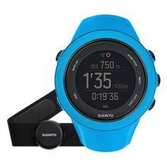 Suunto Ambit 3 Sport Blue with Heart Rate Monitor  is an invaluable training tool with advanced run, cycle and swim functions.
