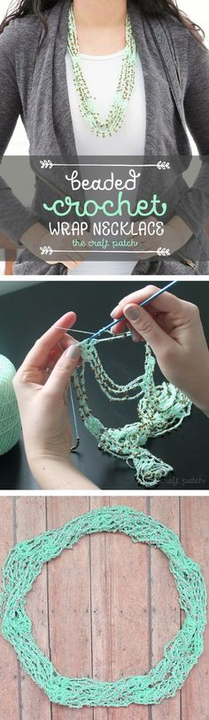 Make this cute crocheted accessory with the help of a video tutorial! Free crochet pattern. It's like a cross between an infinity scarf and a necklace!