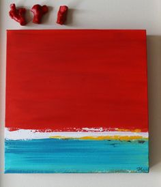 small Abstract painting ORIGINAL painting Acrylic by artbyoak1