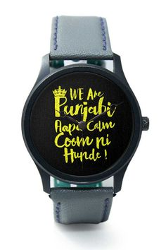 Wrist Watches India | We are Punjabi , We Don't Keep Calm Funny Quote Wrist Watch  Online India.