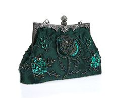 Women s Vintage Evening Bags Beaded Sequined Clutch Wedding Party Purse  1340b24b16b2