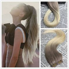 100% Brazilian Remy Tape In Skin Weft Ombre 8A Real Human Hair Extensions Hot #Moresoo #HairExtension