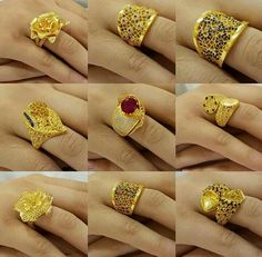 Ali Baba Selani Gold and diamond suppliers Dubai. Jewelry Design Earrings, Gold Rings Jewelry, Gold Earrings Designs, Ring Earrings, Jewelery, Opal Jewelry, Jewelry Sets, Gold Ring Designs, Gold Fashion
