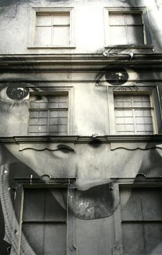 Street art -- lookin' down on ya!