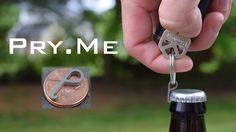 At the size of a penny, Pry.Me is the world's smallest bottle opener. There when you need it, hidden in the shadows when you don't. 100% Titanium. 100% Awesome.