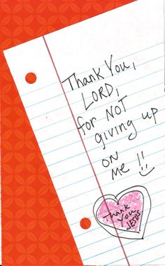 Thanks for not giving up on me, Lord! www.facebook.com/TheGoodNewsCartoon